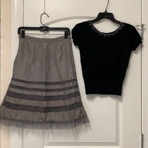 Banana Republic cocktail skirt and cropped sweater